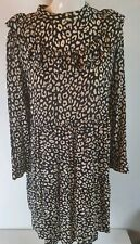 Zara Premium Animal Cheetah Print Dress Sz L