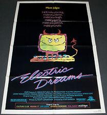ELECTRIC DREAMS 1984 ORIGINAL NM 27x41 MOVIE POSTER! BUD CORT FANTASY COMEDY!