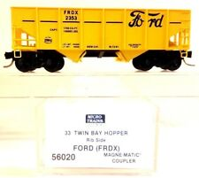 N Micro-Trains MTL 56020 Ford Motor Co 33' Twin Bay Rib Side Hopper FRDX #2353