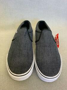Vans Authentic Classic Unisex Slip On Shoes, Grey Men 8.5 US