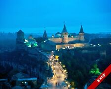 KAMIANETS-PODILSKYI CASTLE UKRAINE LANDSCAPE PHOTO ART REAL CANVAS PRINT