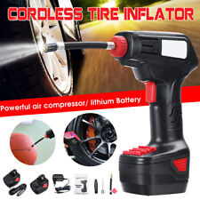 Portable Handheld Cordless Car Tire Inflator Air Compressor Digital LCD Display