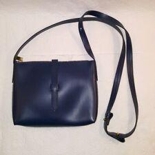 J. CREW Parker Leather Crossbody Bag Navy Blue