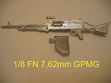 1/8  Metal U.S.  M249  Machine Gun   for  1/8 Big  R/C  Tank Armored Car Vehicle