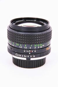 MINOLTA 50mm f/1.4 lens MC with fault Professionally checked