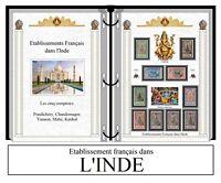 Album de timbres à imprimer ETB. FRANÇAIS DANS L'INDE