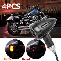 4 Stück Universal Motorrad Mini Signallicht Blinker Licht Quad Roller Lampe 12V
