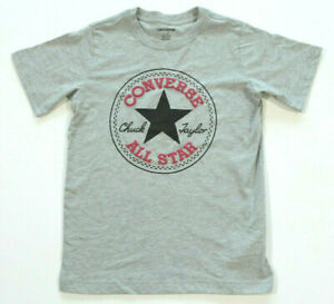 Neu All Star Converse T-Shirt TShirt Kids Jungen Boys grau Logo rund Gr.152-158