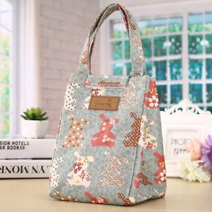 Women's Kids Portable Insulated Lunch Tote Cooler Bag Travel Picnic Box Handbag
