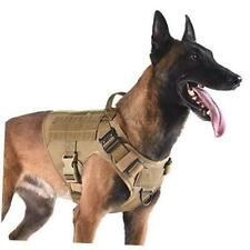 """New listing Tactical Dog Harness with 2X L (Neck:18""""-24"""" ; Chest:28""""-35"""" ) Coyote Brown"""