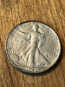 1943D Walking Liberty Half Dollar XF+