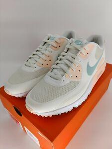 Size 14 Nike Air Max 90 G Sail Light Dew Pastel Golf Shoes CU9978-124 Mens
