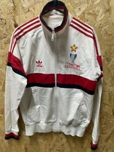 adidas AC Milan 2004 Special Edition Track Jacket White , Red & Black Size M