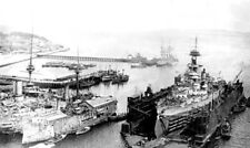 ROYAL NAVY DREADNOUGHT BATTLESHIP HMS ERIN AT INVERGORDON IN 1918