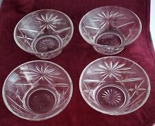 Lot of 4  Anchor Hocking Star of David Berry Wide Top Berry Custard Bowls EAPC