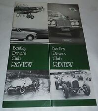 Bentley Drivers Club Review 1991, 4 Issues, 179 Feb, 180 May, 181 Aug, 182 Nov