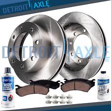 Express Suburban Savana Yukon XL 2500 H2 Deville Front Brake Rotors+Ceramic Pads