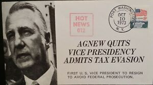 1973 United States Hot News 012 Agnew Quits Vice Presidency Cover Tax evasion