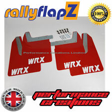 Qty4 Mud Flaps & Fixings SUBARU IMPREZA New Age 01-07 4mm PVC Red WRX White