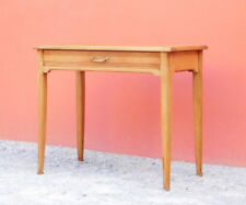 Scrittoio tavolino rettangolare Decò, rovere, '900 - L 90 x P 48 cm!