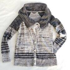 Armani Exchange Black Gray Fashion Button Sweater Size Medium