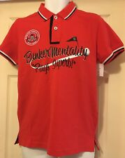 Bunker Mentality Men's Pinseeker Golf Polo Shirt  Red Small Brand New Rrp £55