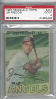 1967 Topps Venezuela baseball card #244 Jim Fregosi, California Angels PSA 2