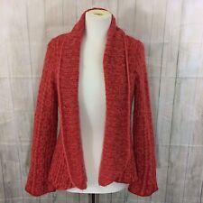 Wooden Ships Orange Wool Mohair Blend Cardigan Sweater Size M/L