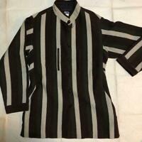 Issey Miyake permanente ladies jacket coat Ladies outerwear Size M stripe J2195