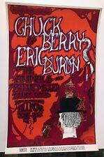 1967 Irons Eric Burdon Animals Chuck Berry Bill Graham Fillmore Poster Bg 70 1St