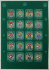 CHRISTMAS SEALS STAMPS SHEET OF 20 MNH 2001 FINLAND ALAND HOLOGRAM ANGEL HEART