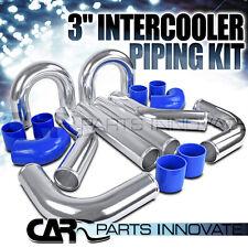 "Chrome Polished Aluminum 3"" FMIC Intercooler Piping Elbow Hose DIY Kit"