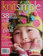 KNIT SIMPLE 38 Fun Knits PomPom Madness Kid Funkiest Hats Jan 2015 FREE SHIPPING