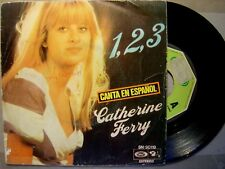 CATHERINE FERRYºsung in spanishº1,2,3 / petit SPAIN 45 MOVIEPLAY 75ºEUROVISION