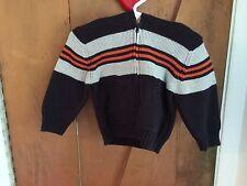 NWT Boys hoodie sweater navy gray orange 6 9 12 months