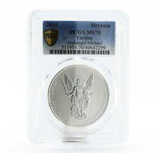 Ukraine 1 hryvnia Faith series Archangel Michael MS70 PCGS silver coin 2011