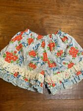 NWT PERSNICKETY Bushel & a Peck Blue Floral Lace Felicity Ruffles Shorts 3 4 5 7
