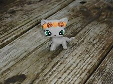 Littlest Pet Shop Custom OOAK LPS Short Hair Cat Brown w/Orange/Bronze Flowers