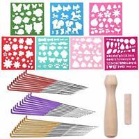 41 Pcs Felting Needle Tool Set, 3 Sizes Colorful Needle Felting Needles with