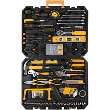 198 Piece Mechanics Tool Set Socket Wrench Auto Repair Tool Combination Mixed.