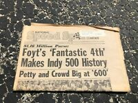 JUNE 1 1976 NATIONAL SPEED & SPORTS NEWS car racing newspaper - INDY 500 FOYT