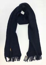 Polo Ralph Lauren Unisex Dark Blue One Size Wool Scarf NEW