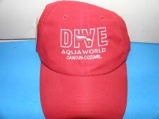 Dive Aqua World Cancun Cozumel Mexico Logo Hat (NWT)