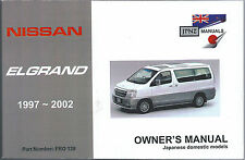 Nissan Elgrand E50 1997-2002 English Language Owner's Handbook by JPNZ