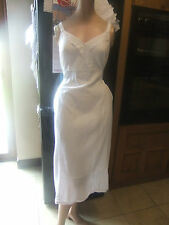 white crossover lace trim dress in crumpled cheese cloth sty material nwt sz 20