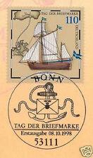 BRD 1998: Tag der Briefmarke Nr. 2022 mit dem Ersttagssonderstempel von Bonn! 1A