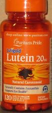 Puritan's Pride Lutein 20 mg 120 softgels With Zeaxanthin Supports Eye Health