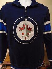 Winnipeg Jets NHL 1/4 Zipper pullover Sweater Men's Large