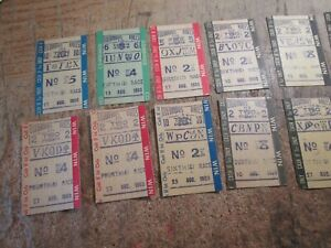 OLD (12) COLUMBUS RACES NEBRASKA TRACK HORSE BETTING TICKETS STUBS RACING