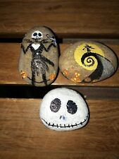 Jack Skellington Hand Painted Original Rock Stone Art